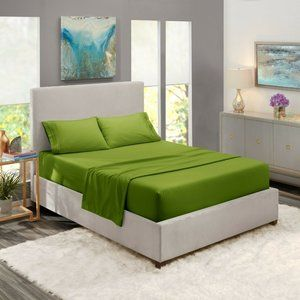 Green Egyptian Comfort Bed Sheets 4 Piece! Sale!